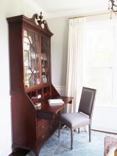 Antique 18th c. secretary in Master Sitting Area